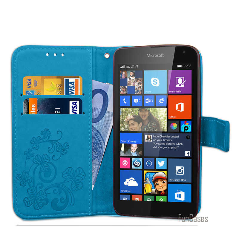 160b04c35b9 ... Amazing Case For Microsoft Lumia 535 Leather Wallet Flip Cover Case For Nokia  Lumia 535 Silicone