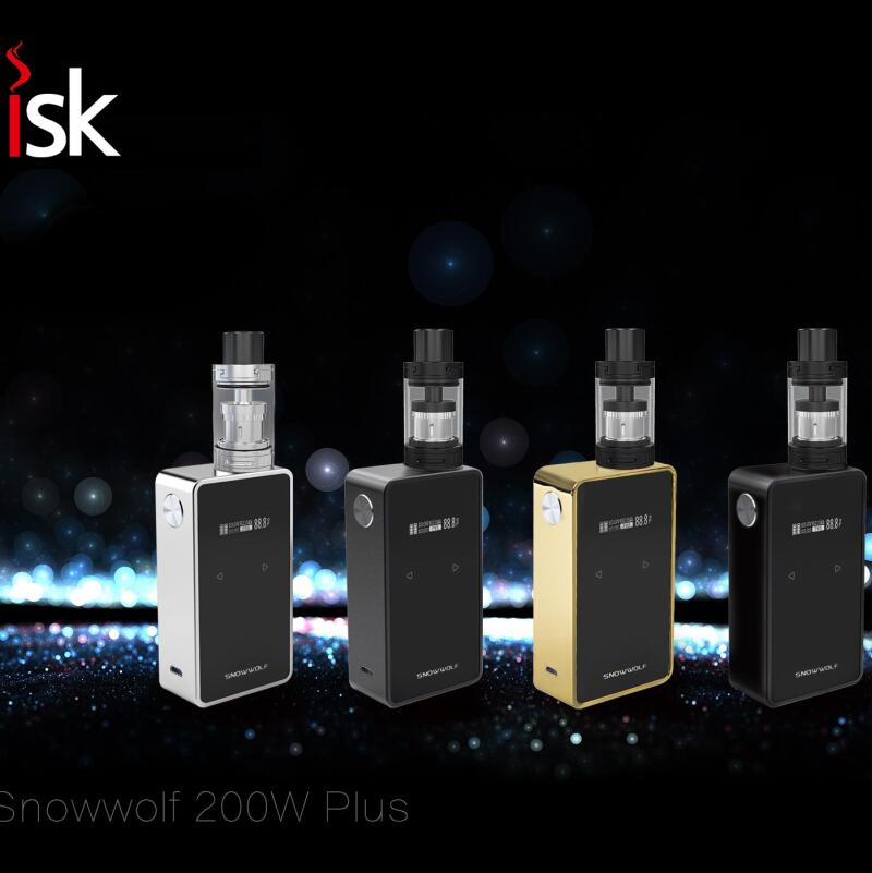 Sigelei SnowWolf 200W Plus TC Box Mod Vape Pen Fit 2*18650 Fast Shipping Max Power 235W SNOWWOLF Mod sigelei 150w vv vw 150watts mod 18650 vape kanger subtank aspire sigelei 150w box mod