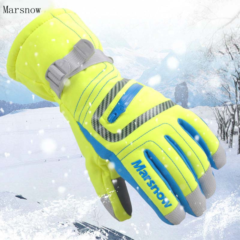 -30 Degree Marsnow Brand Men Women Ski Snow Riding Gloves Windproof Outdoor Sport Thermal Snowboard Winter Snow Skiing Gloves