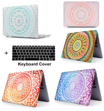 Laptop Print Pattern Protective Hard Shell Case Keyboard Cover Skin For 11 12 13 15 Apple Macbook Air Pro Retina Touch Bar LS