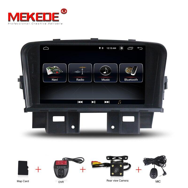 MEKEDE autoradio multimédia lecteur vidéo Navigation GPS Android pour Chevrolet CRUZE accessoires berline pas de dvd 2 din 4 2011-2014