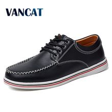 Vancat Big Size 38-47 New 2018 Fashion Casual Shoes Men Lace Up Flats Summer Comfortable Handmade Driving Moccasins Men Shoes