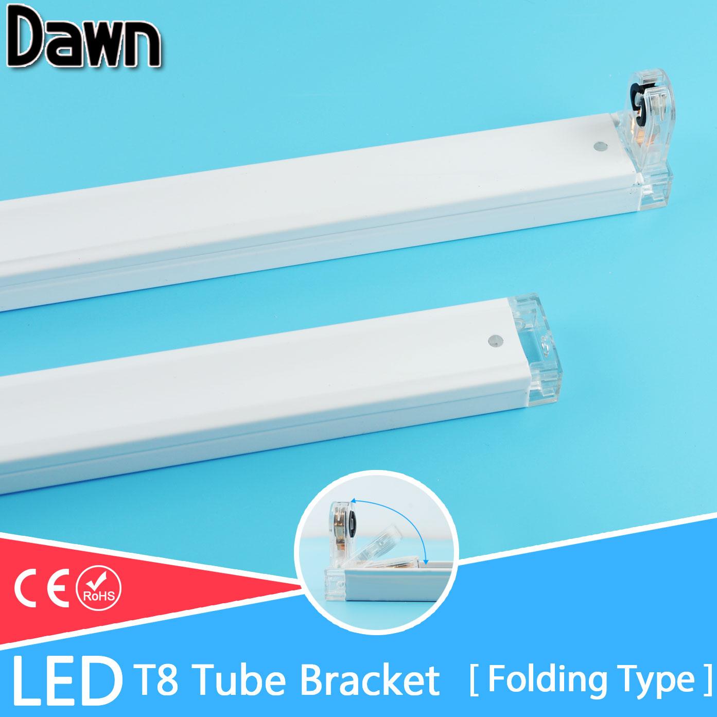 Бесплатная доставка складной Тип t8 светильники светодиодные трубки кронштейн для 2ft 60 см 600 мм люминесцентные лампы Light tube/ поддержка/База/де... ...