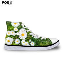 FORUDESIGNS High Quality Women Casual Canvas Shoes High Top