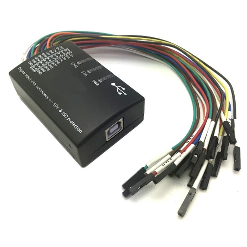 cheapest Saleae USB Logic 100MHz 16Ch Logic Analyzer for ARM FPGA E4-004