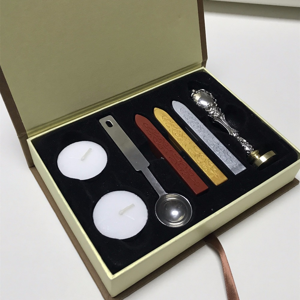 personalizado lacre de vedacao selo cera personalizado box set 02