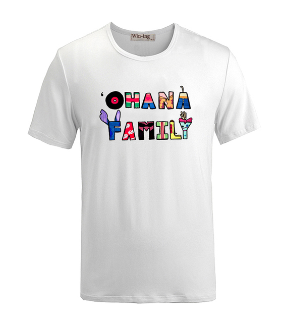 877099a9 Lilo & Stitch Ohana Means Family Stitch Has a Glitch Short Sleeve Tees T  shirt Unisex Men Summer Fashion Printed T shirts Tops