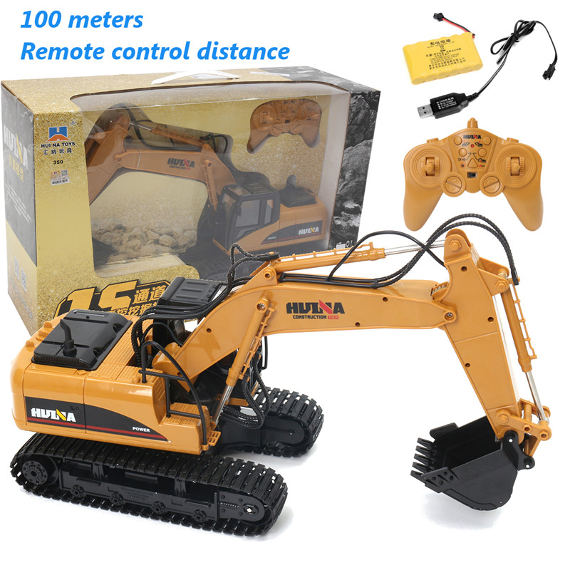 2.4G 15 Channel 15CH 680 Degree Rotation RC Excavator Fork Construction & Remote Control High Quality Newest For Kids Toy Gifts rc cars remote control 15 channel 1 12