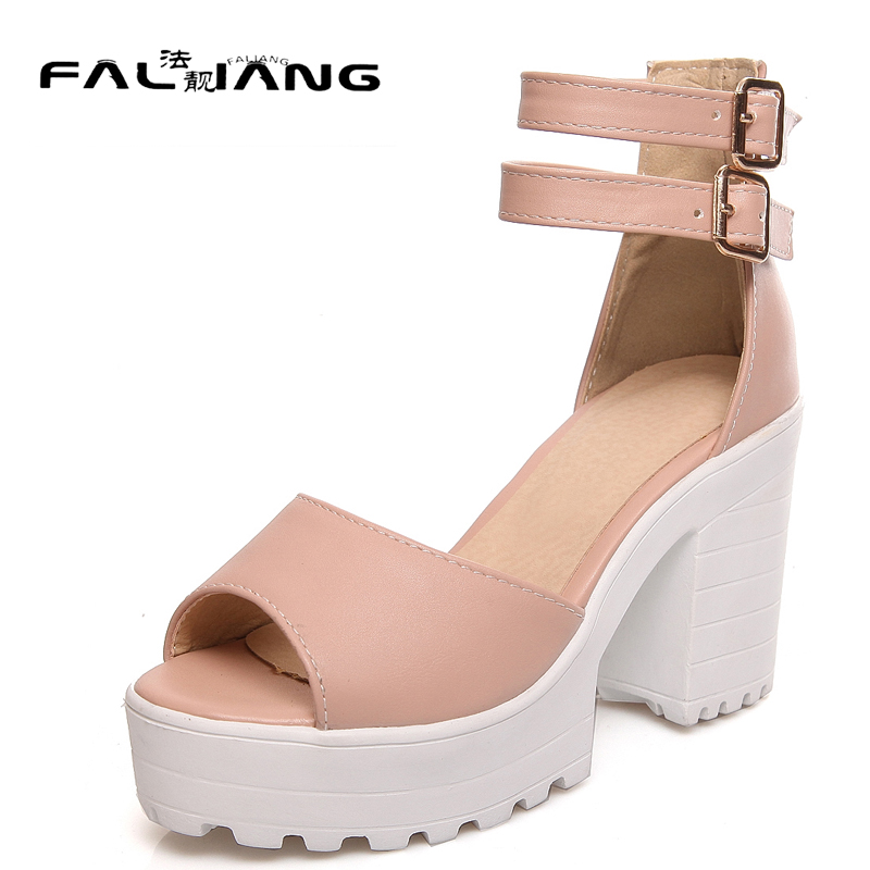 Fashion New arrival Big Size 11 12 13 14 15 women shoes woman Peep Toe ladies womens Summer Rough with high heel sandals new 2017 spring summer women shoes pointed toe high quality brand fashion womens flats ladies plus size 41 sweet flock t179