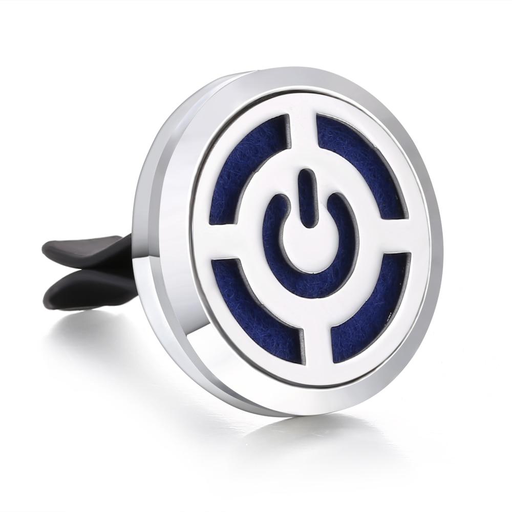 Ароматический диффузор ожерелье открытый медальон Подвеска для ароматерапии диффузор эфирного масла автомобильный освежитель воздуха автомобильный парфюмерный диффузор зажим - Окраска металла: 4