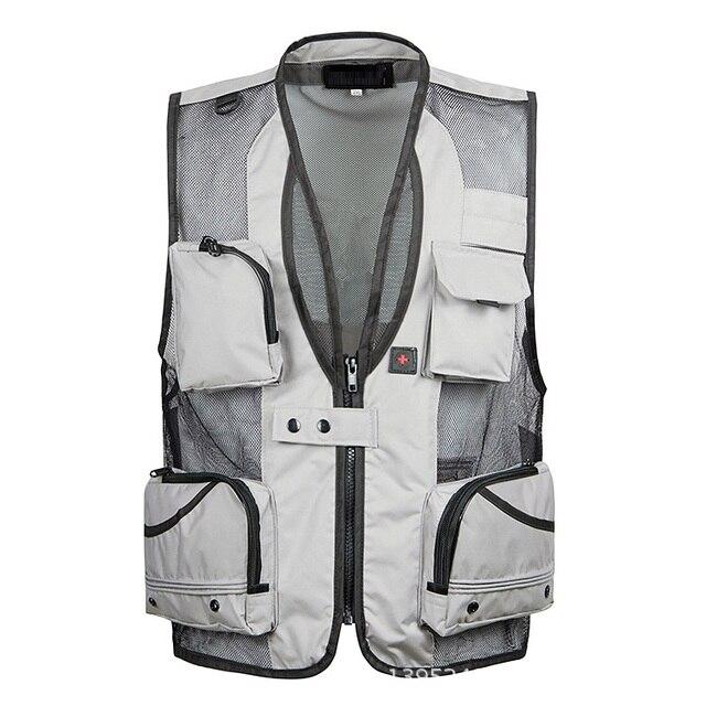 2016 New arrival summer  men's multi-pocket vest,Men's  Jackets  8 color size XL,2XL,3XL,4XL,5XL