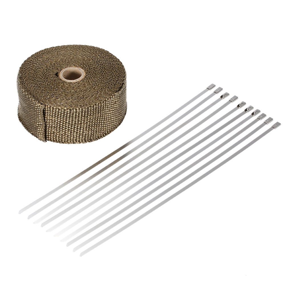 15m heat wrap exhaust manifold downpipe 10 30cm cable ties for car motorcycle buy cheap in an online store with delivery price comparison specifications photos and customer reviews