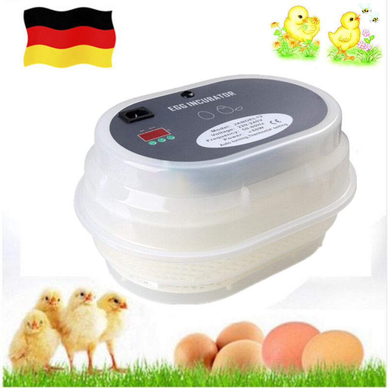 Household 12 egg digital automatic incubator eggs turning poultry hatchery tools for chicken ducks goose incubation ce certificate poultry hatchery machines automatic egg turning 220v hatching incubators for sale
