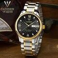 cadisen Brand Simple Fashion Casual Business Watches Men Date Waterproof Quartz Steel strip Leather Watch relogio masculino