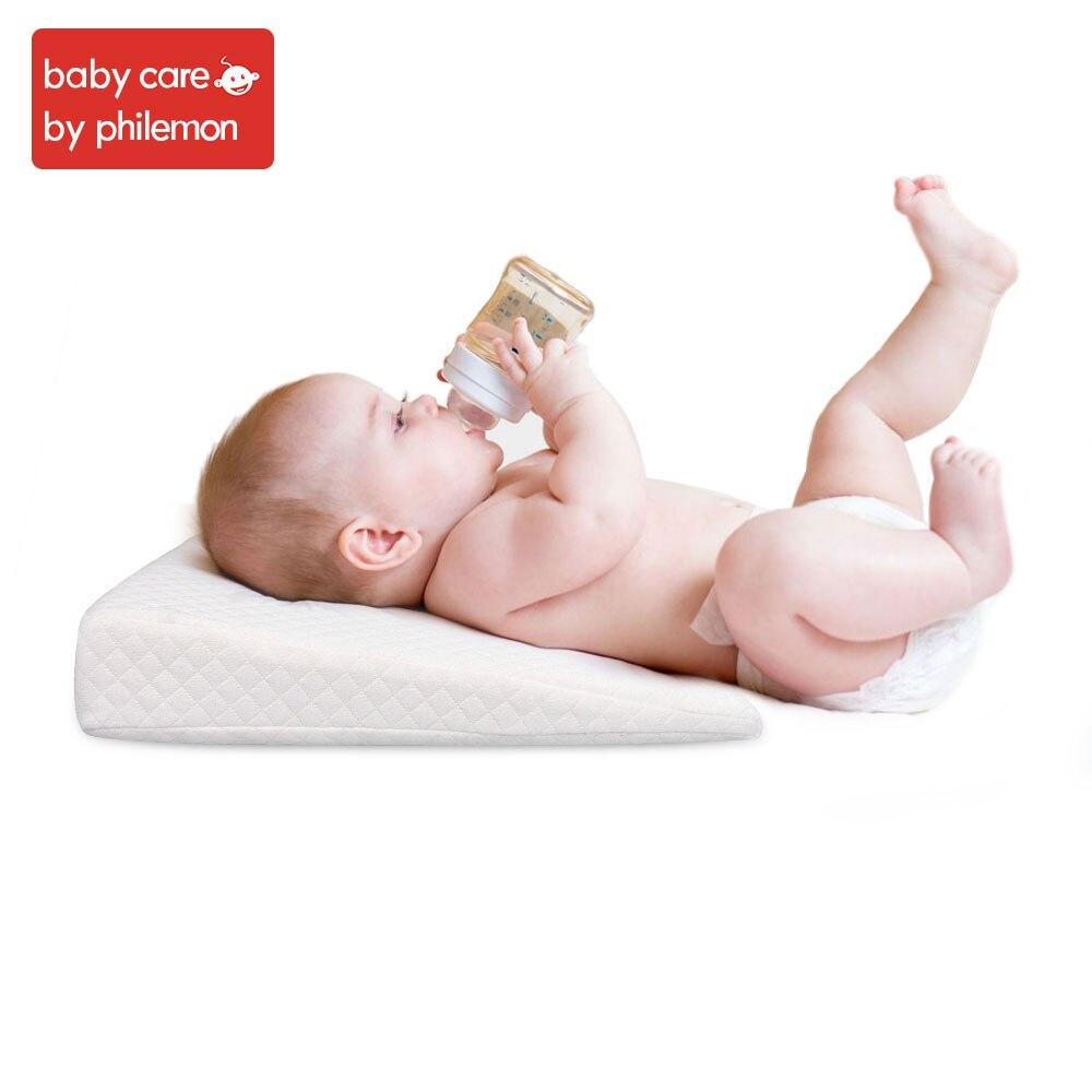 Aag Newborn Sleep Positioner Pillow Cotton Comfortable Sleeping Headrest Pillow Anti Roll Cushion Stroller Accessories 0 Pillow Baby Bedding