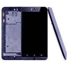 IPartsBuy yeni ASUS Zenfone Selfie için ZD551KL Z00UD LCD ekran ve sayısallaştırıcı tam meclisi ile çerçeve