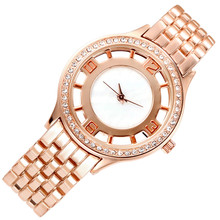 Comtex Fashion rose gold wrist women wrist watch Alloy Strap Ladies watch simplicity Casual Quartz Watch Waterproof bracelet