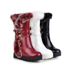 Image 5 - MORAZORA Botas de media caña para mujer, botas de nieve de poliuretano para invierno de alta calidad, zapatos de plataforma cálidos, 34 43 talla grande, 2020