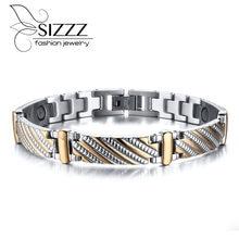 Vnox-Bracelet en acier inoxydable, aimants de soins de santé, bijoux de sculpture exquis pour hommes