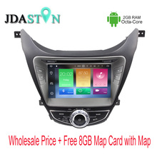 JDASTON Octa Core Android 6.0 Car DVD Player For HYUNDAI Elantra Avante I35 2gb ram 32G Flash  Multimedia GPS Navigation Radio