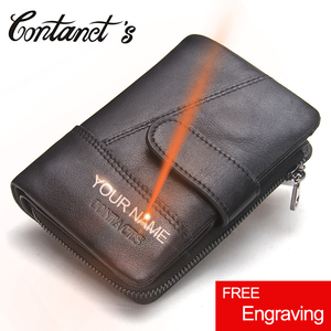 Image 1 - 브랜드 남자 지갑 클러치 블랙 정품 암소 가죽 남성 돈 가방 달러 가격에 대 한 동전 지갑 주위에 고품질 디자인 지퍼