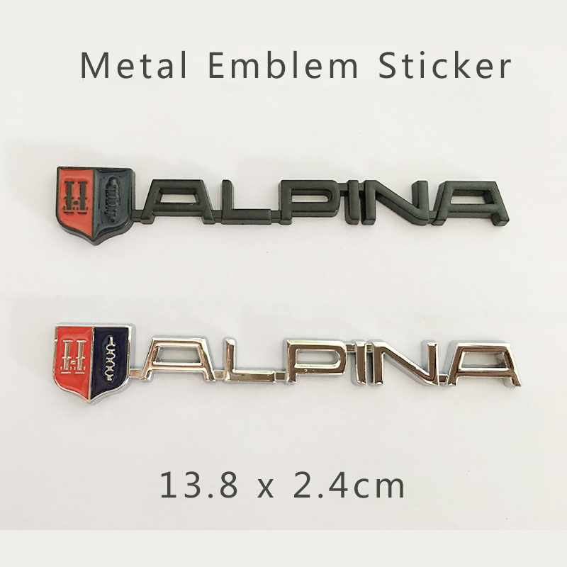 1pcs /set New Car accessories Car body Emblem Sticker for Alpina Metal Logo Label Good quality Free shipping Auto Decals Metal 3d metal chrome auto car stickers 4 drive skull emblem badge decals car body sticker accessories for jeep cherokee car styling