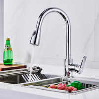 Spanish Local Delivery Free Shipping Kitchen Faucets Silver Single Handle Pull Out Kitchen Tap 360 Degree Water Mixer Tap