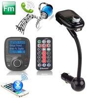 Bluetooth handsfree fm-передатчик Car Kit MP3 плеера Радио адаптер с Дистанционное управление для iphone Samsung Смартфон LG