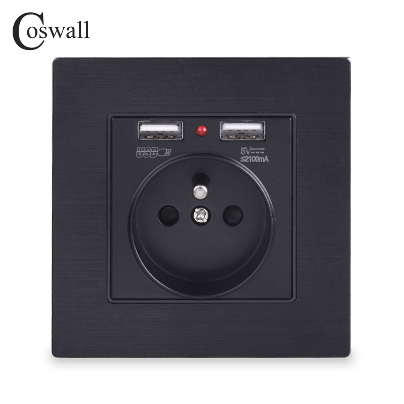 coswall-black-aluminum-metal-panel-dual-usb-charging-port-21a-16a-french-standard-wall-socket-power-outlet-r12-series