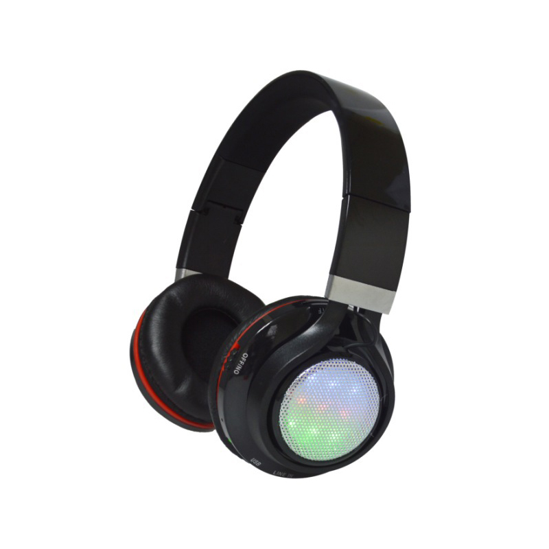 BT816 Bluetooth Headset LED lighting wireless Headphone Stereo earphone Support TF Card FM Radio Foldable For Phone Tablet PC zealot b570 headset lcd foldable on ear wireless stereo bluetooth v4 0 headphones with fm radio tf card mp3 for smart phone