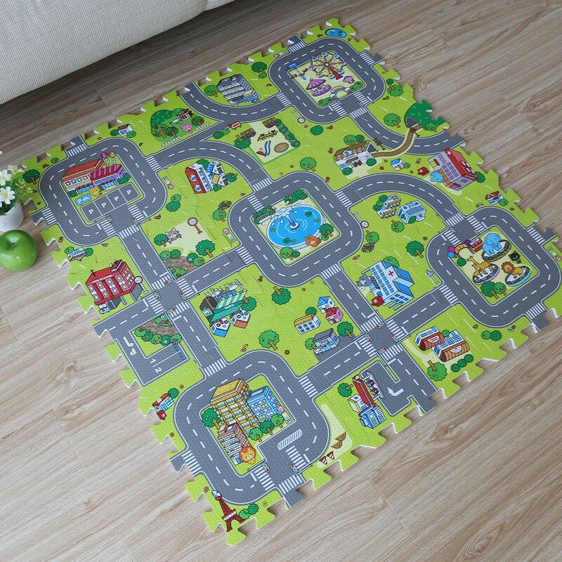 9 Pieces Bebe Eva Mousse Puzzle Jouer Tapis De Sol L Education Et