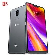 """ロック解除オリジナル LG G7 プラス G7 + ThinQ G710EAW Lte の Android デュアル Sim オクタコア 6.1 """"3 カメラデュアル 16MP 128 グラム ROM 6 グラム RAM 電話"""