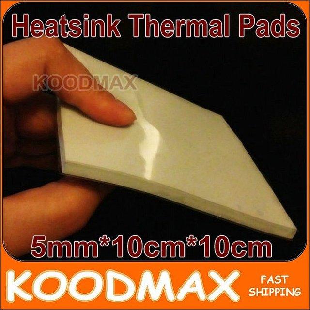 5mm*100mm*100mm Laptop GPU South Bridge IC Heatsink Cooling Silicone Thermal Conductive Pad  KOODMAX