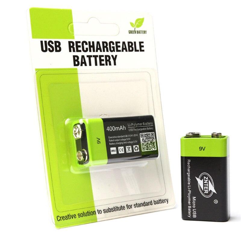 ZNTER 9 V USB Akku 400 MAH Bateria Standard Lithium-Batterie Micro USB Lade ZNT-9V