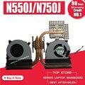 Новый оригинальный охлаждающий вентилятор для процессора ASUS N550 N550J N550JA N550JK N550JV N750 N750J N750JV N750JK G550J G550JK N550L Q550L радиатор