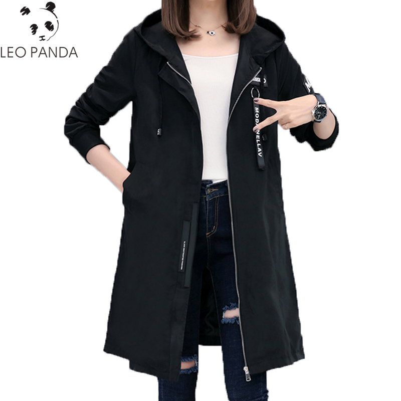 Spring Autumn Trench Loose Coat Women Causal Long Sleeve Hooded Coats Fashion Windbreaker Army Green Female Long Outerwear CY56 telwin alpine 20