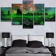 где купить 5 Piece HD Print Large Alien Starry Sky Planet Cuadros Decoracion Paintings on Canvas Wall Art for Home Decorations Wall Decor по лучшей цене