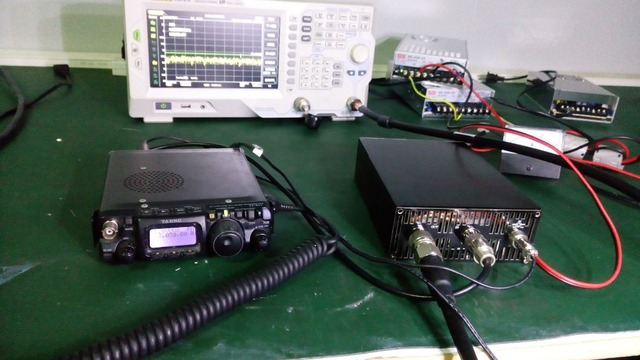 DIY ערכות 200W HF מגבר כוח עבור FT 817 ICOM IC 703 Elecraft KX3 QRP PTT שליטה