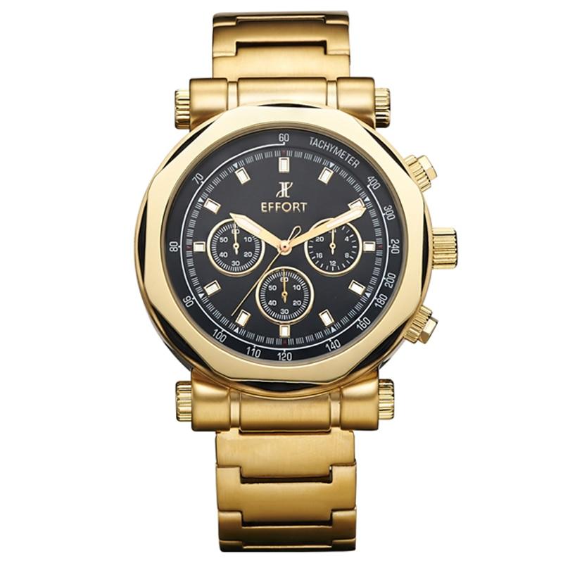 ФОТО EFFORT Brand 6 Hands Chronograph 30 M Waterproof  Relogios Montre en or Hommes Wrist Quartz Luxury Watches Clock Male EF.2006M