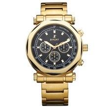 ESFUERZO Marca 6 Manos Cronógrafo 30 M Impermeable Reloj de Pulsera de Cuarzo Relojes De Lujo Relogios Montre en o Hommes Masculinos EF.2006M