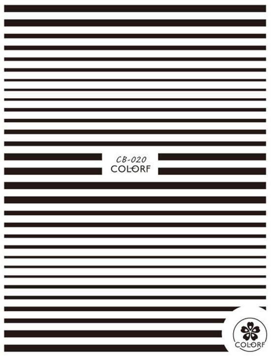 CA series CB 20 WHITE BLACK LINE 3d nail art stickers decal template diy nail tool decorations in Stickers Decals from Beauty Health