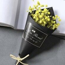 1 Bunch Mini Gypsophila Flower Forget-me-not Bouquet Natural Dried Wedding Decorative Flowers Shop Home Decor