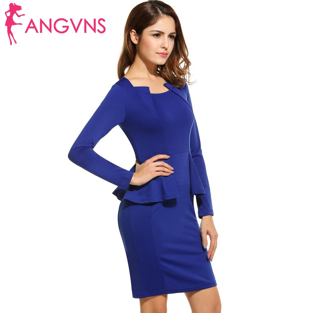 ANGVNS Sexy Pencil Dress Women Elegant Party Mini Short Tight Dresses  Business 2018 OL Casual Black Bodycon Vestidos Plus Size-in Dresses from  Women s ... b38ca4c98