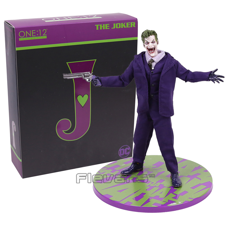 MEZCO Batman The Joker 1/12 Scale PVC Action Figure Collectible Model Toy (Real Clothing) 16.5cm 1 6 scale figure terminator3 rise of the machines t x kristanna loken 12 action figure doll collectible model plastic toy