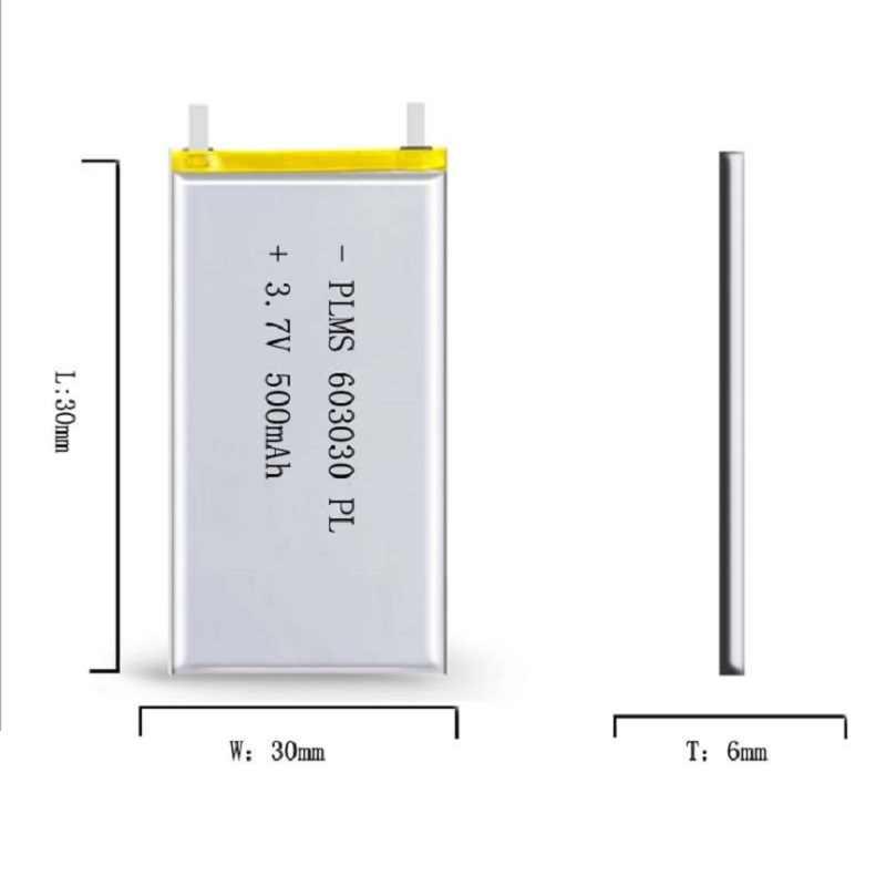 500mAh 3.7V akumulator 603030 li bateria litowo-polimerowa li na MP3 MP4 GPS DVD rejestrator e-book camera