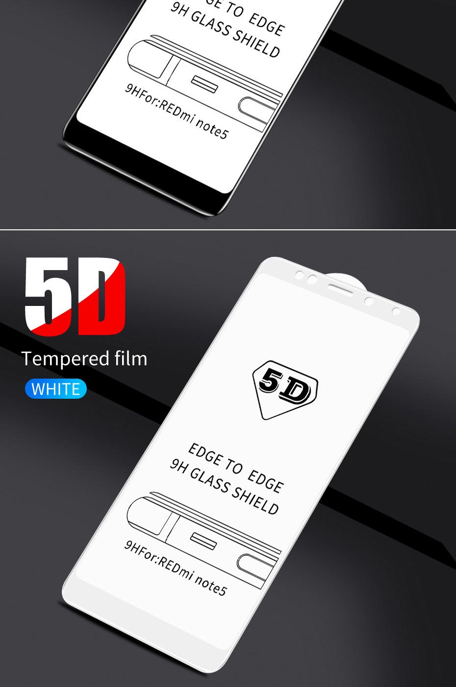 ZNP 5D Screen Protector Tempered Glass For Xiaomi Redmi Note 7 5 Pro Redmi 4X 7A 7 6 Protective Glass For Redmi 5 Plus k20 Film 11