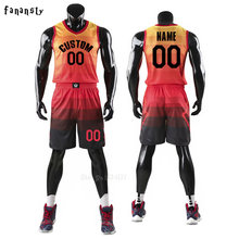 6acf7581 Для мужчин майки спортивные команды костюмы дышащая быстросохнущая  Индивидуальные дети Молодежная форма для баскетбола комплект наборы