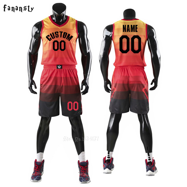 1cd866e26 Men Basketball jerseys Team Sports Suits Breathable Quick dry Customized kids  youth Basketball uniforms set kits 2019 New