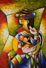 Hand Painted Abstract Oil Painting on Canvas Modern Famous Picasso Canvas Painting Wall Art  Picture Painting for Living Room hand painted abstract oil painting on canvas modern famous picasso canvas painting wall art picture painting for living room