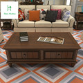Simples aldeia Americano mesa de chá de madeira retro velho da moderna de grande porte-apartamento sala de estar mobiliário antigo mesa retangular
